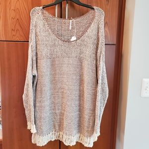 NWOT Free People Chenille Knit Oversized Sweater